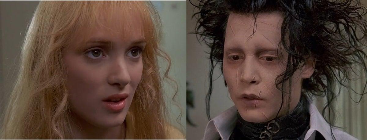 Winona Ryder and Johnny Depp were engaged while making Edward Scissorhands