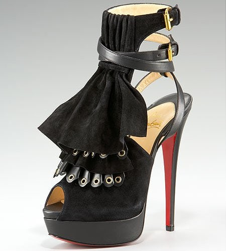 Christian Louboutin 'Misfit' Ruffle Sandals