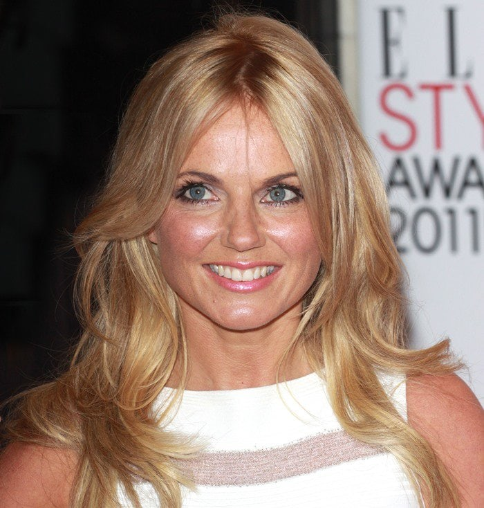 Geri Halliwell wears her hair down at the 2011 Elle Style Awards