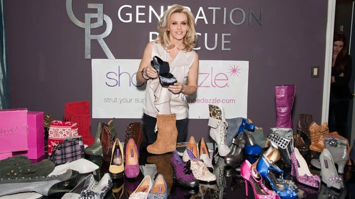 Jenny McCarthy attends a design session with ShoeDazzle with profits benefiting the charity Generation Rescue