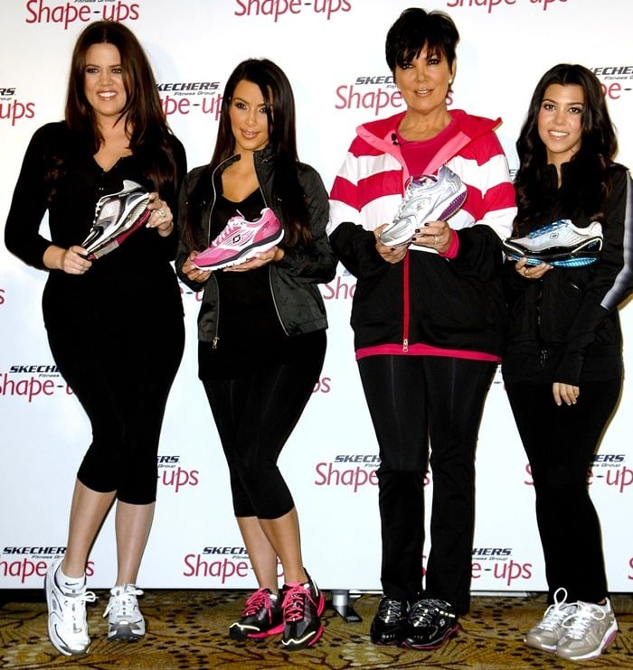 Kourtney Kardashian, Kim Kardashian, Kris Jenner and Khloe Kardashian at Skechers Shape-Ups Announces Global Partnership With Kardashian sisters and Kris Jenner at a special event held at the Beverly Hills Regent Hotel on November 22, 2010