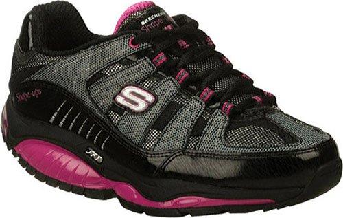 Black/hot pink SKECHERS Shape-ups with Kinetix Response SRT