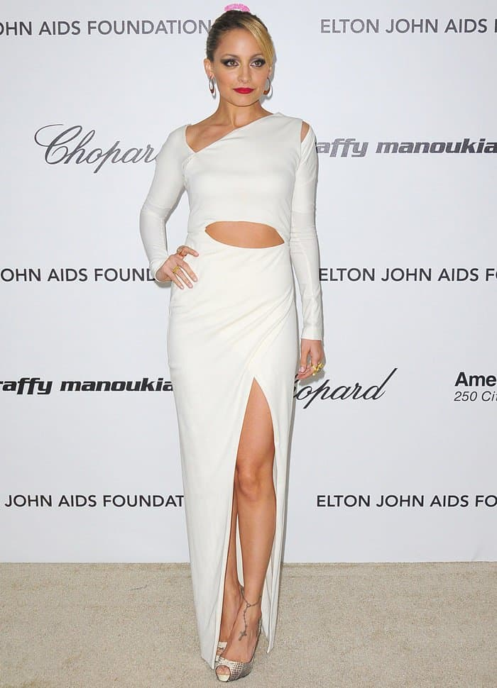 Nicole Richie at the 19th Annual Elton John AIDS Foundation Academy Awards Viewing Party held at the Pacific Design Center in West Hollywood, California on February 27, 2011
