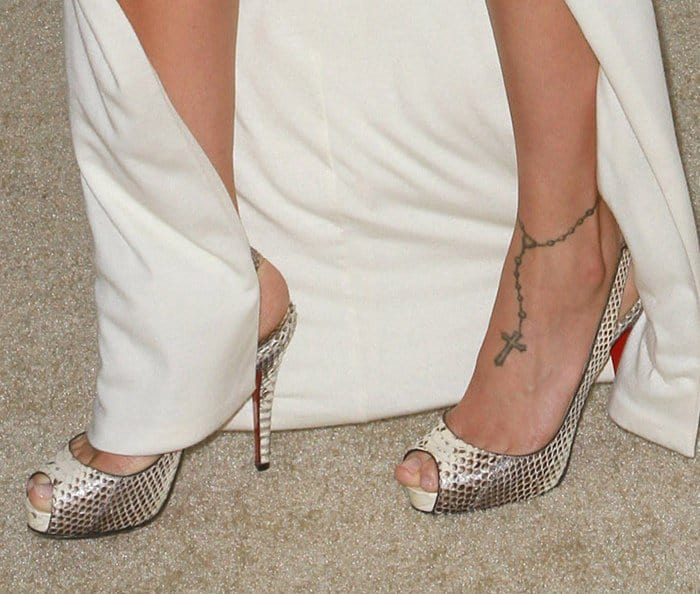 Foot And Leg Tattoos 21 Celebs With Tattooed Feet And Ankles