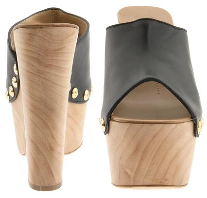 Giuseppe Zanotti Studded Leather Peep-Toe Mule