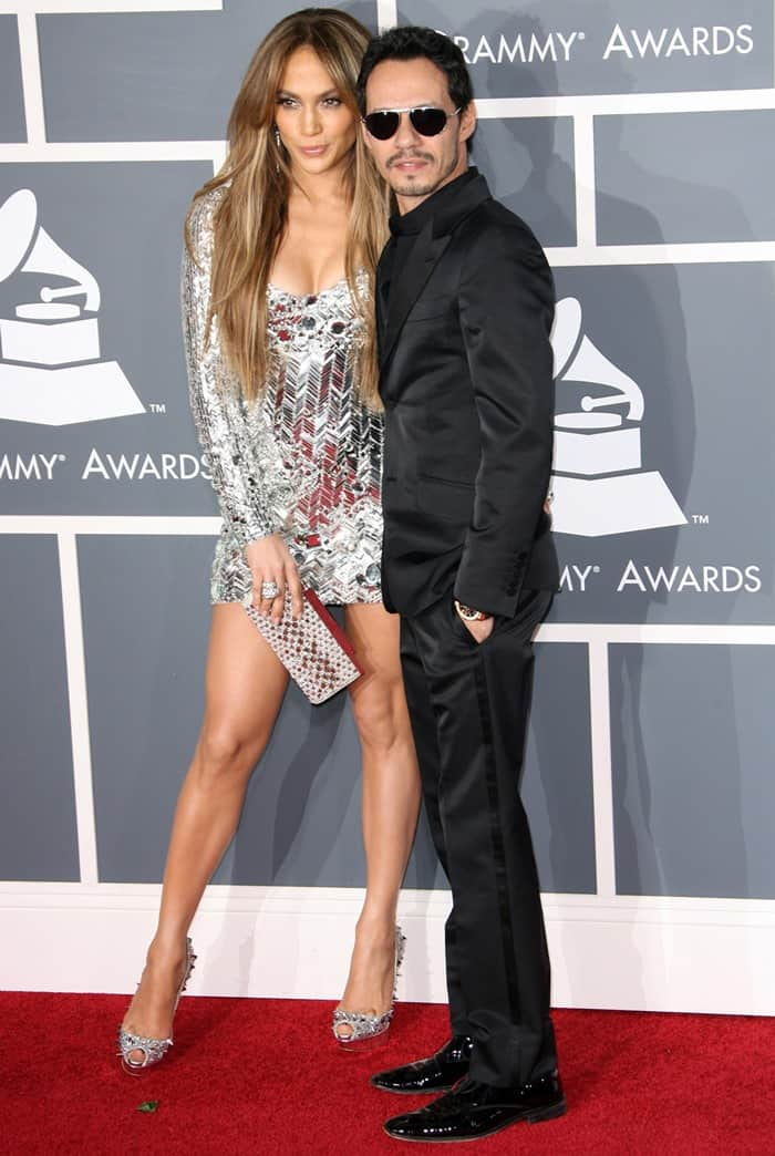 Jennifer Lopez and Marc Anthony at the 53rd Annual GRAMMY Awards