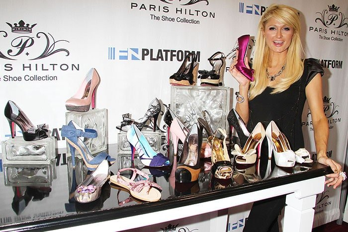 Paris Hilton unveiling her Paris Hilton Spring 2011 shoe collection at 'Magic' Convention held at the  Las Vegas Convention Center in Las Vegas, Nevada, on August 18, 2010.