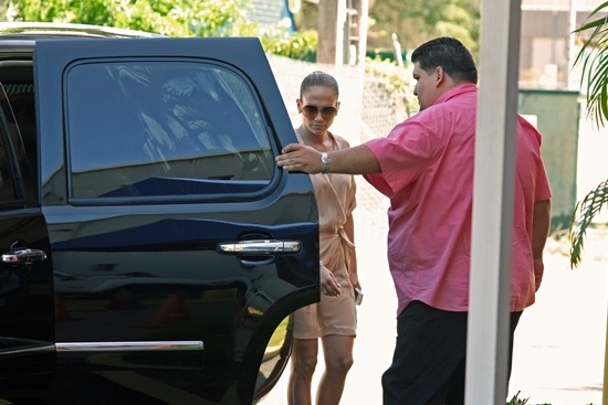 Jennifer Lopez and Marc Anthony are seen departing the luxury hotel La Concha
