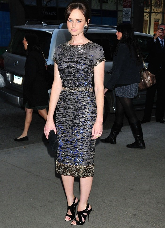 "Actress Alexis Bledel attends the New York Premiere of ""The Conspirator"" at The Museum of Modern Art on April 11, 2011 in New York City"