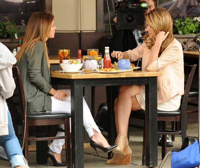 """Audrina Patridge films scenes for her new reality show """"Audrina"""" at Joan's On Third in West Hollywood, California on April 7, 2011"""