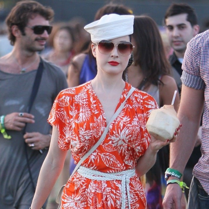 Dita Von Teese at the 2011 Coachella Valley Music and Arts Festival - Day 1 - in Indio, California, on April 17, 2011