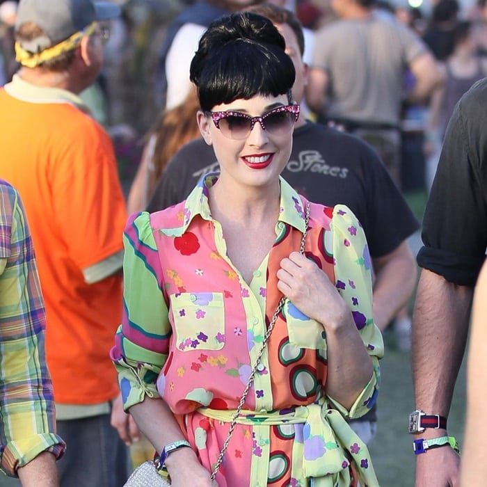 Dita Von Teese at the 2011 Coachella Valley Music and Arts Festival - Day 1 - in Indio, California, on April 15, 2011