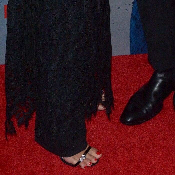 Vanessa Hudgens' hot feet in Giuseppe Zanotti's Ellie sandals