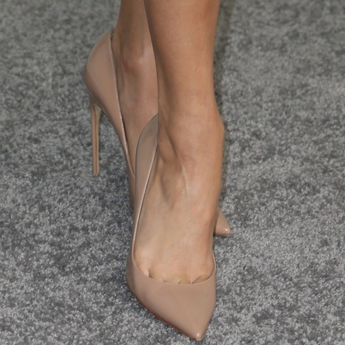 Vanessa Hudgens' sexy toe cleavage in Brian Atwood shoes