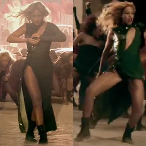 """Beyonce dances in an Emilio Pucci gown during her """"Run the World (Girls)"""" music video"""