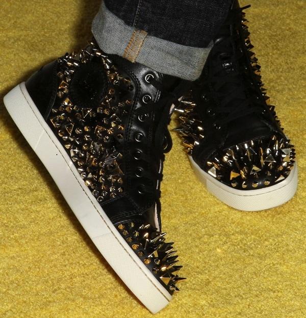 Brad Goreski wearing studded sneakers
