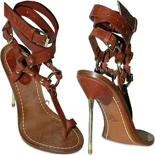 Emilio Pucci criss cross ankle strap thong sandals