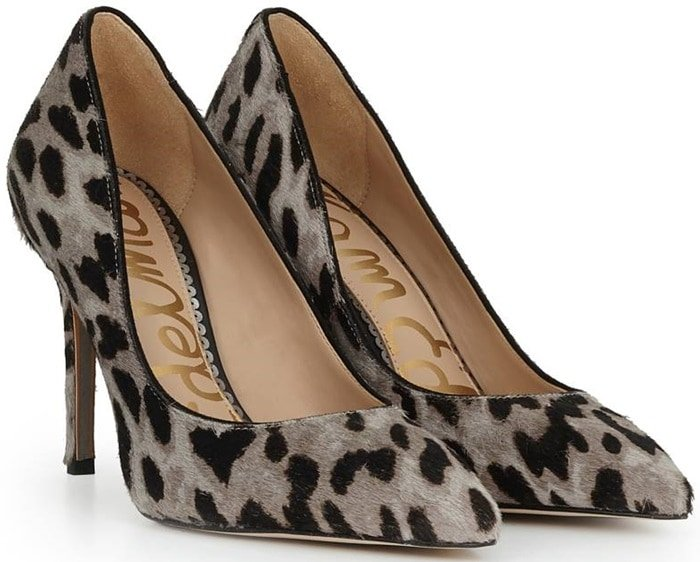 Gray Leopard Print Shoes
