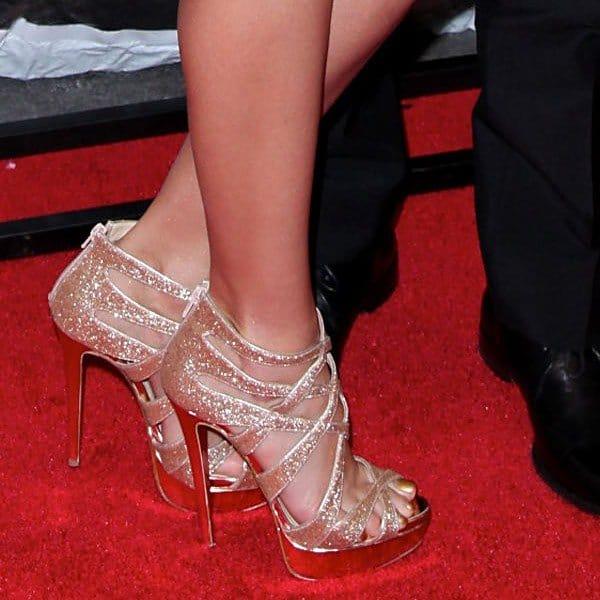 Jessica Alba in Christian Louboutin Balota Heels