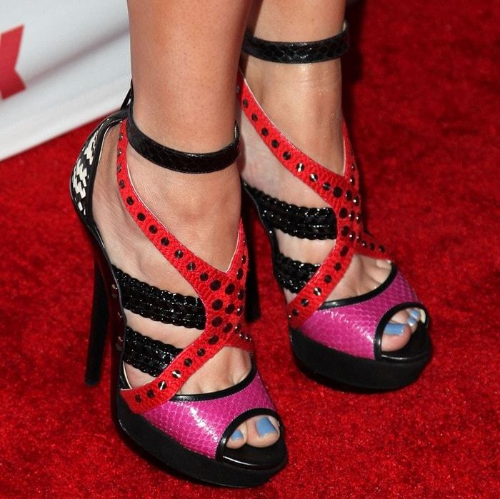 Khloe Kardashian's feet in Jimmy Choo sandals