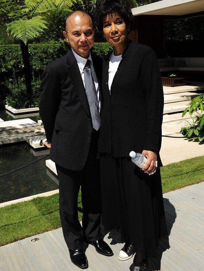 Jimmy Choo and Moira Stewart at the 2011 Chelsea Flower Show - VIP Day at the Royal Hospital in London