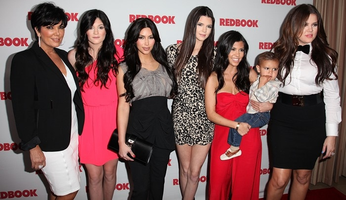 Redbook magazine celebrating its first-ever family issue featuring the Kardashians on its May 2011 cover at the Sunset Tower Hotel in West Hollywood on April 11, 2011