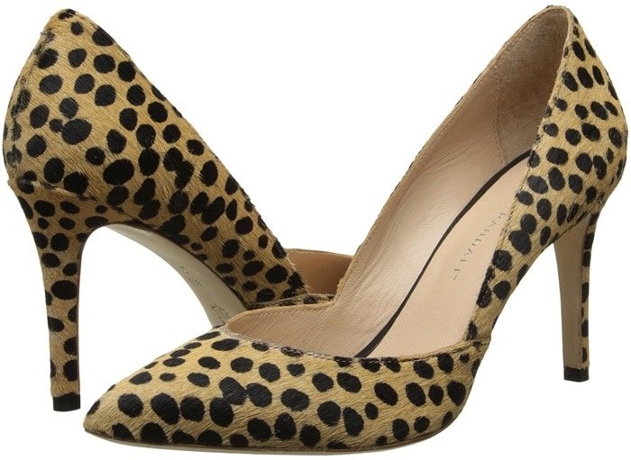 Cheetah haircalf lends a graphic edge to classic Loeffler Randall pumps