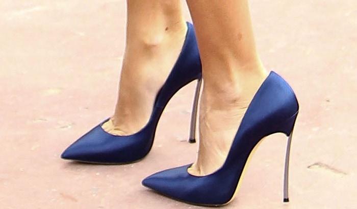 Penelope Cruz rocked Casadei shoes in Cannes
