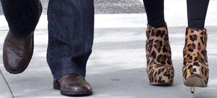 Rachel Zoe's Brian Atwood Didier leopard print booties