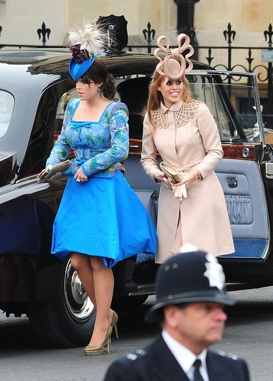 Princess Eugenie and Princess Beatrice at the Wedding of Prince William and Catherine Middleton at Westminster Abbey in London on April 29, 2011