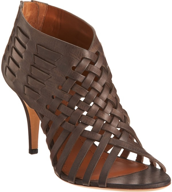 Givenchy Woven Bootie in Brown