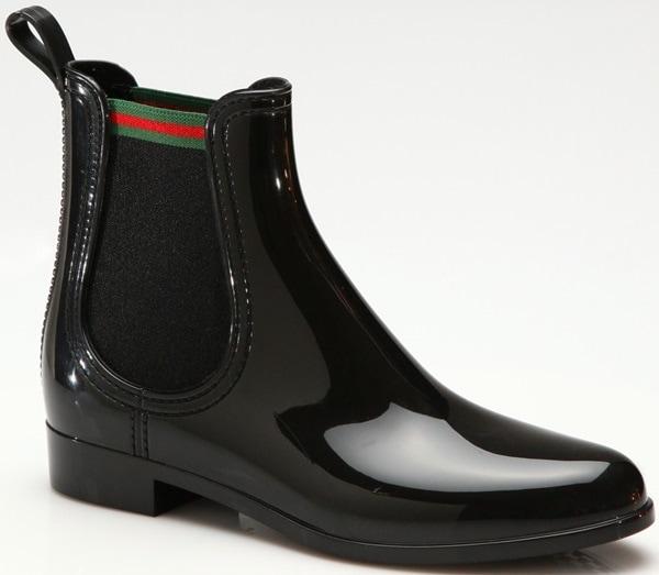 Gucci Purple Storm Rain Boots Black