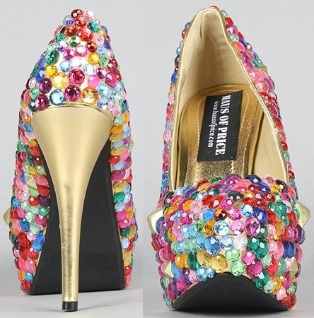 Gem and stud covered pumps from Haus of Price