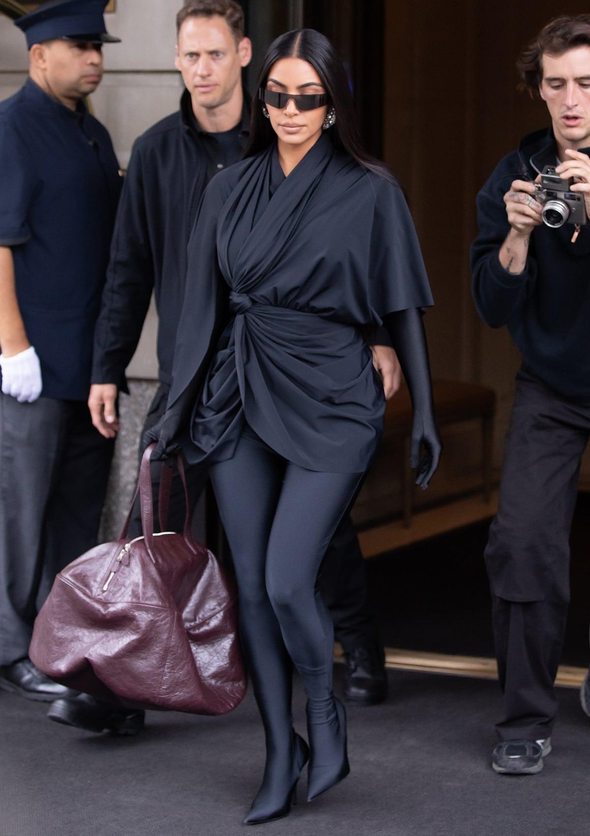 Kim Kardashian heads to Saturday Night Live rehearsals in New York City
