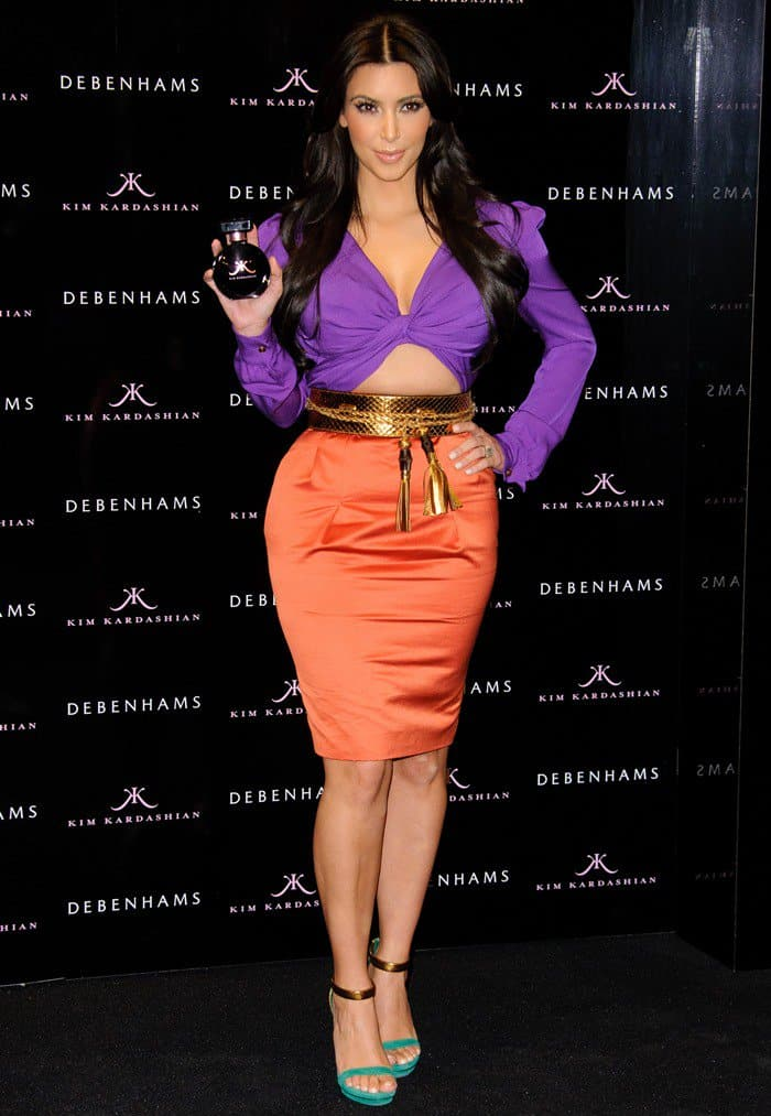 Kim Kardashian launches her self-titled new scent exclusively at Debenhams in London, England on June 8, 2011
