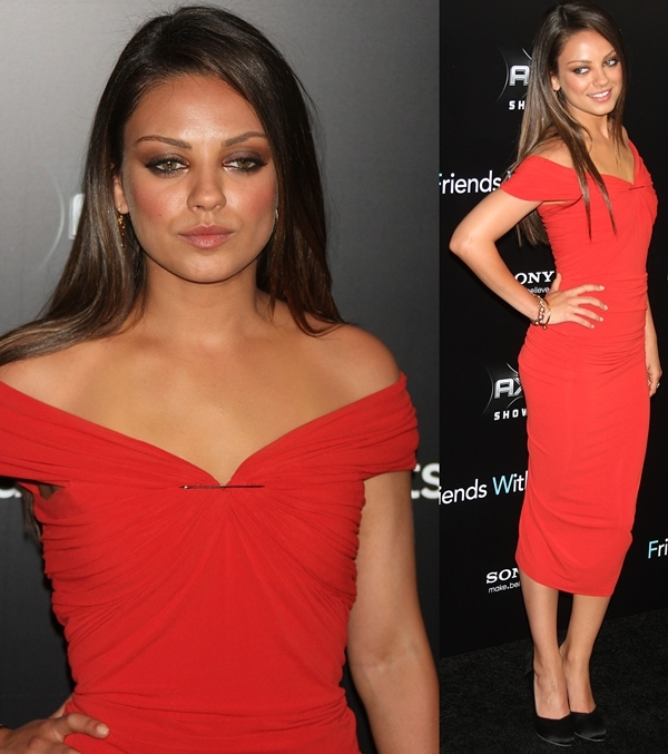 Mila Kunis at the New York premiere of 'Friends with Benefits', held at the Ziegfeld Theater in New York City, July 18, 2011