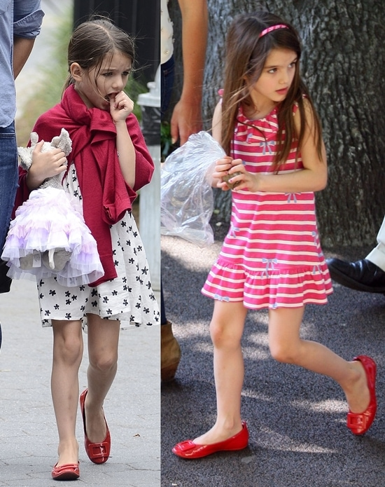 Suri Cruise enjoying a day at Brooklyn Bridge park New York City (September 3, 2012) and Suri Cruise spending the afternoon at the Central Park Zoo in Midtown (July 11, 2012)