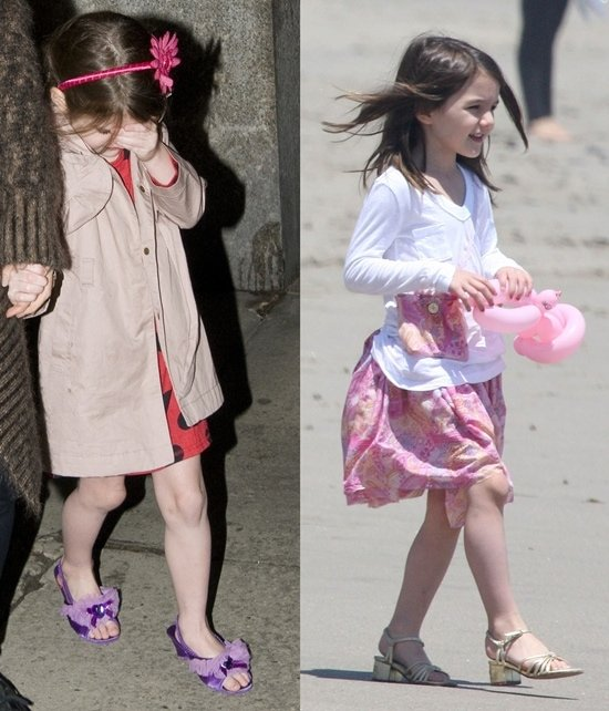 Suri Cruise leaves her Manhattan residence to go out to dinner (March 16, 2011) and Suri Cruise at a Memorial day beach party in Malibu (May 30, 2011)