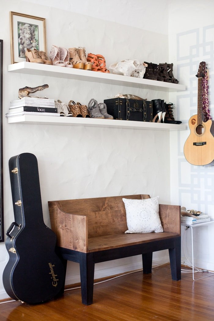 A peek at Aimee Song's former apartment in San Fransisco. It shows her love of spaces, objects, and fabulous shoes