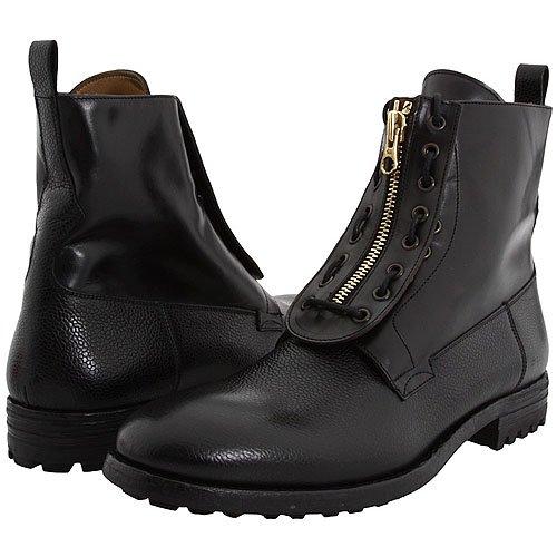 Alexander McQueen men's lace-up eyelet zip-up boots