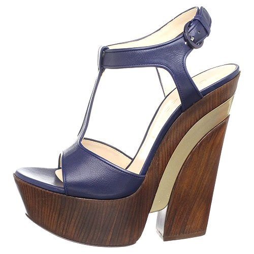 Casadei 6471 t-strap platform sandals