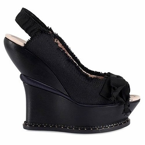 Nina Ricci peep toe platform wedges
