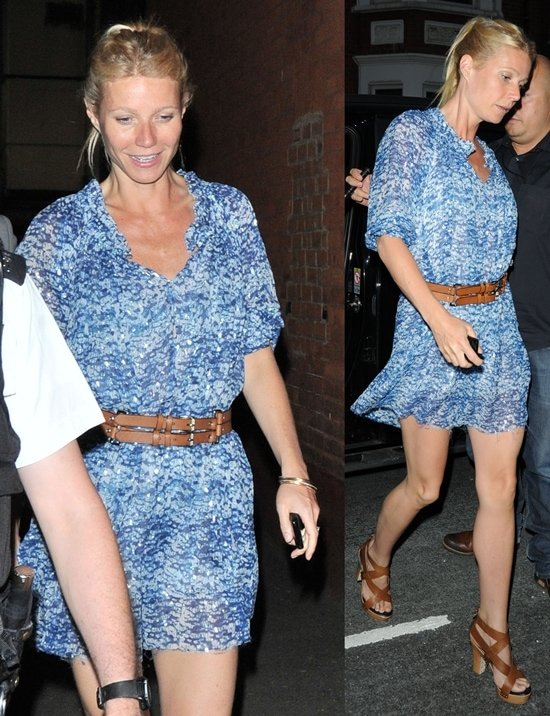 Gwyneth Paltrow arrives at O2 Shepherds Bush Empire ahead of Beyonce's new album launch and performance in London, June 27, 2011