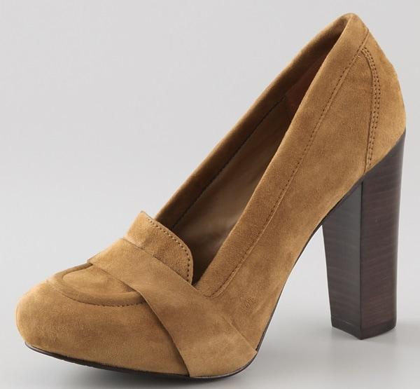 Diane von Furstenberg Roxanne Keeper suede loafer pumps