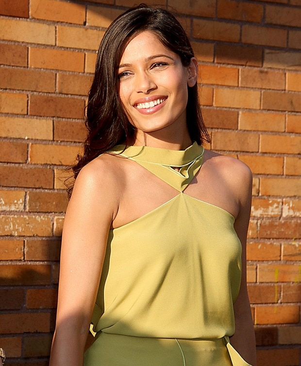 Freida Pinto ahead of her appearance on The Daily Show with Jon Stewart