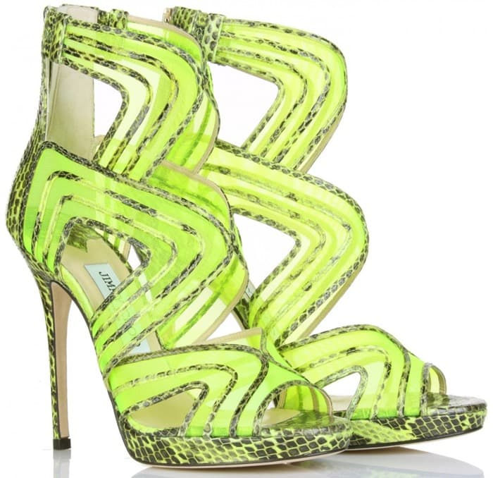 Jimmy Choo Magnum sandals in green
