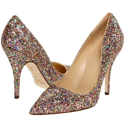 Kate Spade New York 'Licorice' Too glitter pump