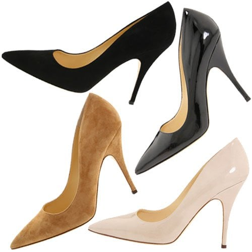 Kate Spade 'Licorice' pump in black, linen, and camel