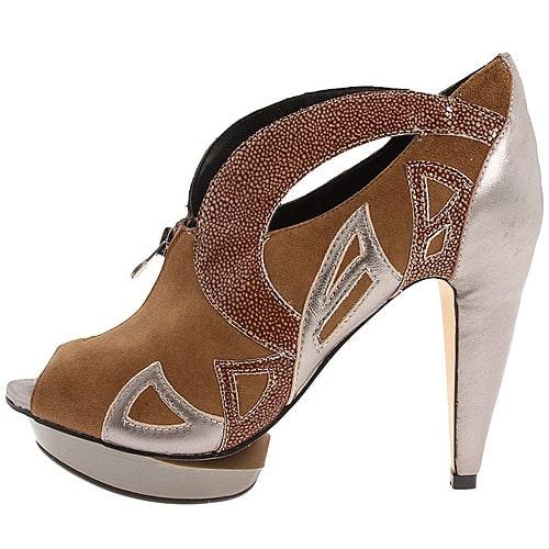 Velvet Angels 'Falcon' Platform Peep Toe Heels