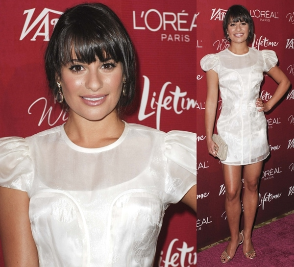 Lea Michele at Variety's 3rd Annual Power Of Women luncheon at the Beverly Wilshire Four Seasons Hotel in Los Angeles, September 23, 2011